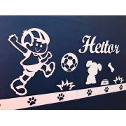 Kit Painel de Parede Brinquedos Cachorrinho Personalizado Completo MDF CRU