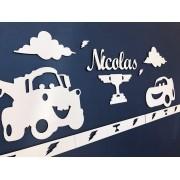 Kit Painel de Parede Carros Personalizado MDF BRANCO