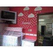 Kit Painel de Parede Nuvens Chuva de Amor Personalizado MDF CRU
