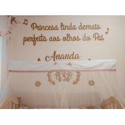 Kit Painel de Parede Princesa Linda Demais MDF CRU