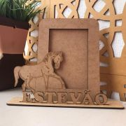 Porta Retrato Personalizado Cavalo em MDF Cru