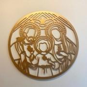 Mandala decorativa Sagrada Família 50cm Decoração Ambiente