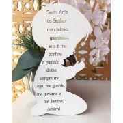 Menino com a Oração Santo Anjo - Aplique Decoração