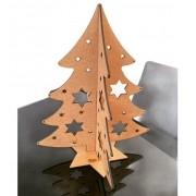 Mini árvore de Natal em MDF 30cm de altura MDF Cru Brinde Lembrança