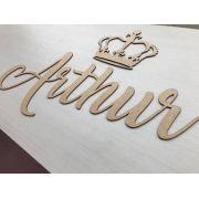 Nome Personalizado (Simples) 60cm + Coroa 20cm MDF CRU