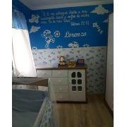 Painel de Parede Menino Brinquedos Frase Personalizada MDF Branco