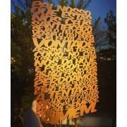 Placa decorativa Oração Pai Nosso 60cm Decoração Ambiente