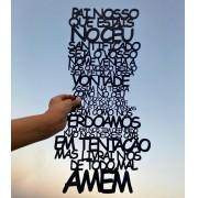 Placa decorativa Oração Pai Nosso Católico 60cm Decoração Ambiente