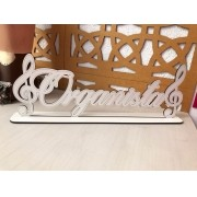 Placa Decorativa Organista 35cm MDF BRANCO