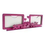 Porta Retrato Duplo Dia das Mães - SuperPai - Horizontal - MDF
