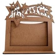 Porta Retrato Natal - MDF Cru