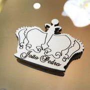 Ref. 004 - Ímãs de Geladeira Coroa Príncipe ou Princesa MDF Branco Lembrancinhas Nascimento Chá de Bebê