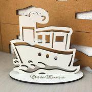Ref. 003 - Lembrancinhas de Mesa tema Marinheiro - Navio MDF BRANCO