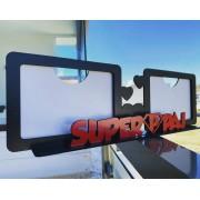 REF. 007 - Porta Retrato Dia dos Pais - Duplo Horizontal - SuperPai - MDF