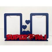 REF. 009 - Porta Retrato Dia dos Pais - Duplo Vertical - SuperPai - MDF Pintado