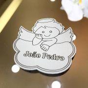 Ref. 008 - Ímãs de Geladeira Anjinho novo MDF Branco Lembrancinhas Nascimento Chá de Bebê