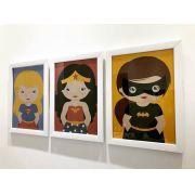 Ref. 010 - Kit Quadros Impressão Digital Heroínas Baby