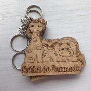 REF. 012 - CHAVEIRO SAFARI PERSONALIZADO MDF CRU