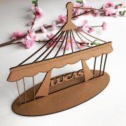 Ref. 017 - Lembrancinhas de Mesa 10cm Tenda de Circo MDF CRU