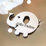 Ref. 016 - Ímãs de Geladeira Elefante MDF Branco Lembrancinhas Nascimento Chá de Bebê