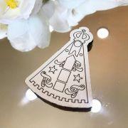 Ref. 085 - Ímãs de Geladeira Nossa Senhora MDF Branco Lembrancinhas Nascimento Chá de Bebê
