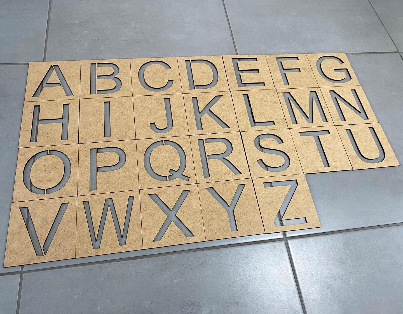 Alfabeto em MDF completo 26 peças