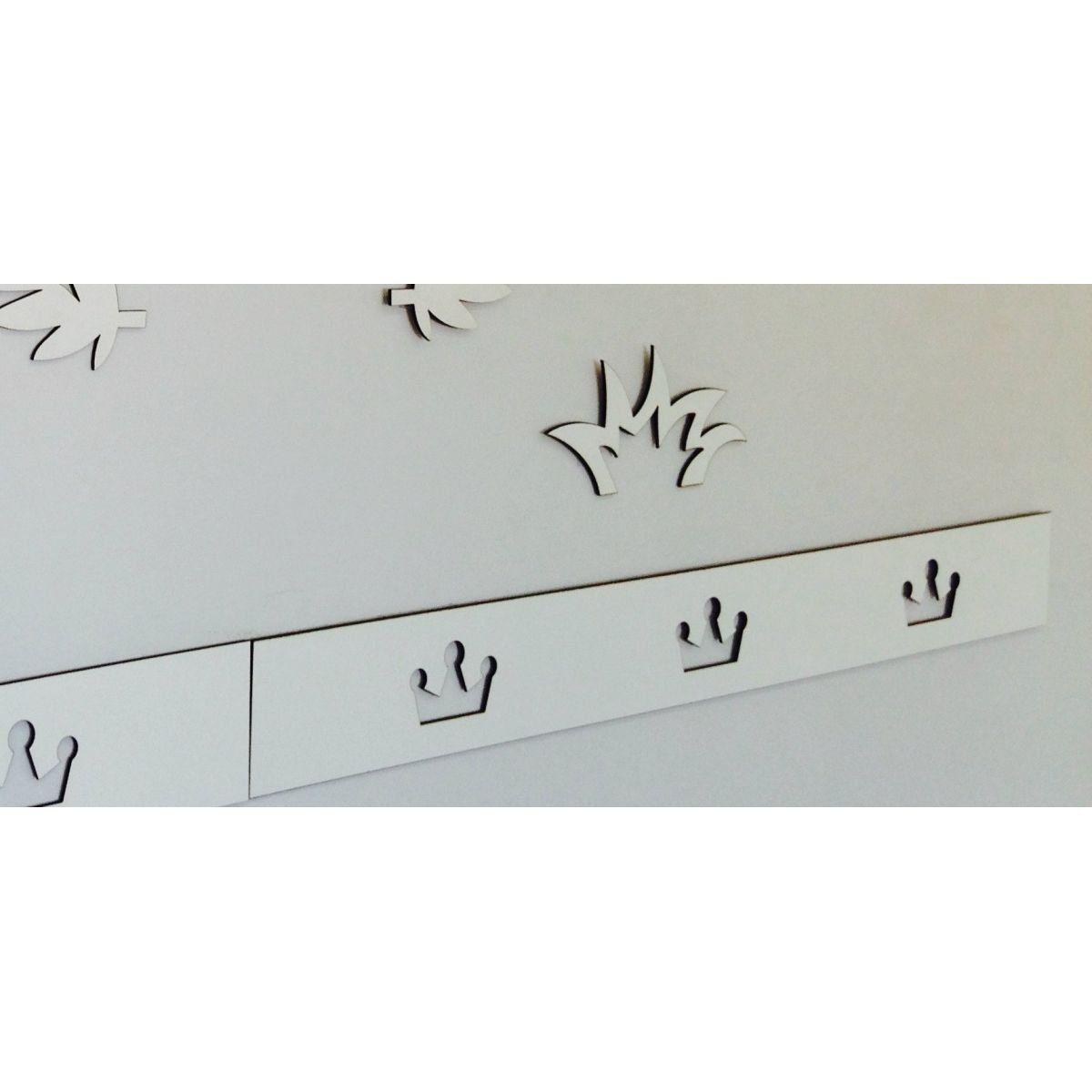Faixa border de parede avulso coroa príncipe / princesa 60cm