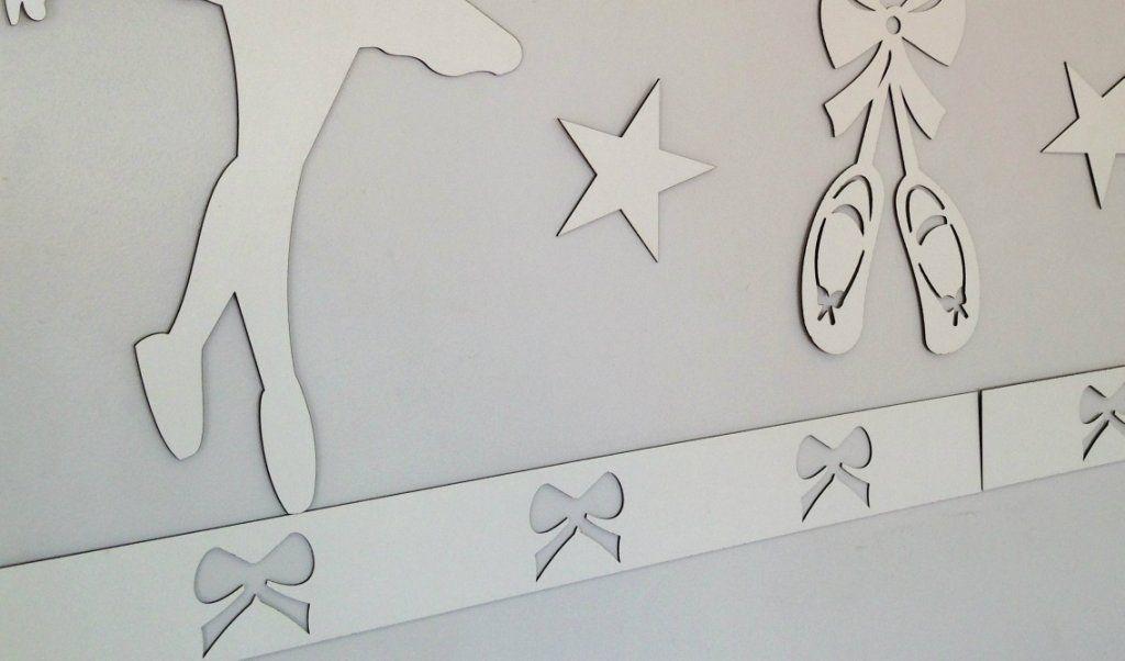 Faixa border de parede avulso Lacinhos 60cm