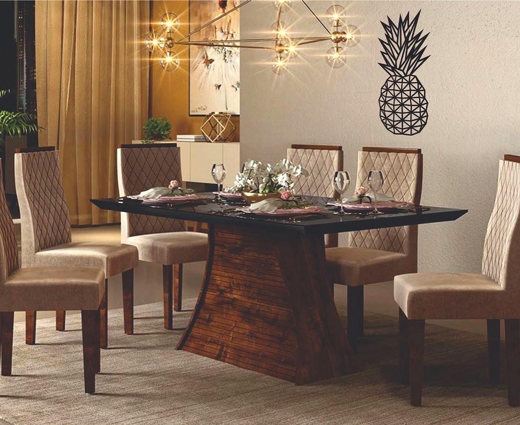 Aplique Decorativo Abacaxi 60cm MDF Decoração Ambiente