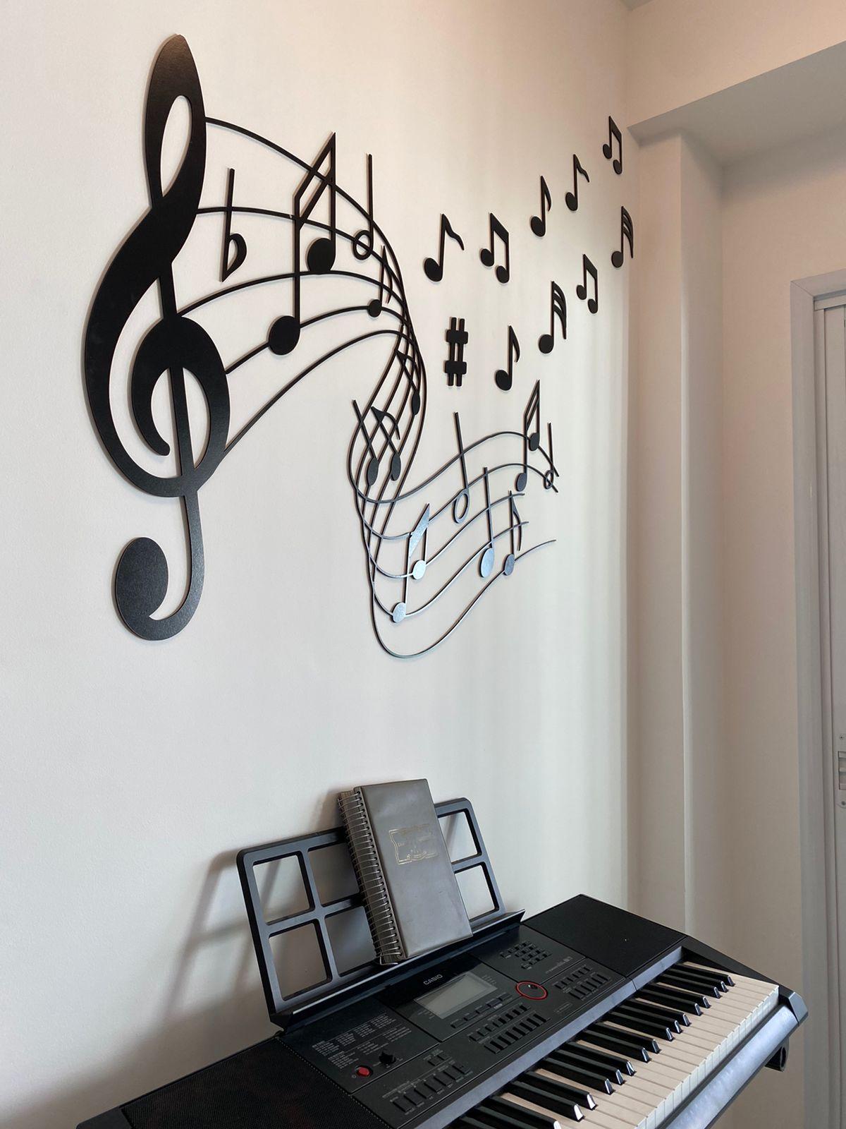 Aplique Decorativo Musical 90cm MDF Decoração Ambiente