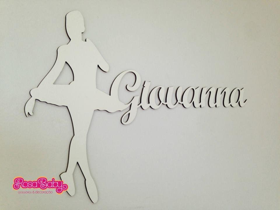 Bailarina com Nome 60cm
