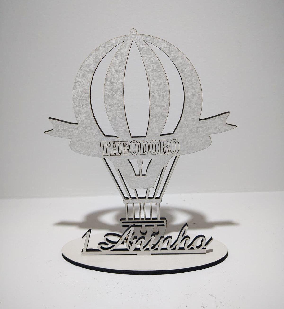 Centros de Mesa 20 cm Balão - MDF BRANCO