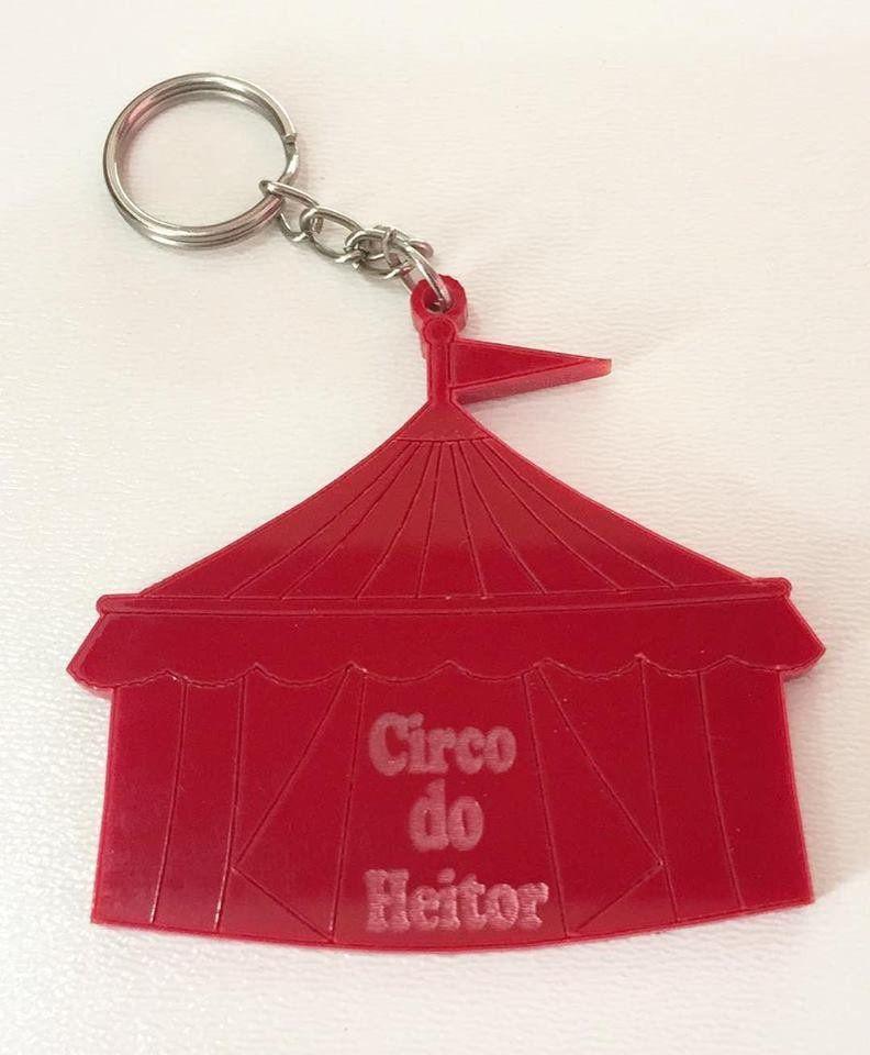 Chaveiro Circo Personalizado Acrílico Colorido