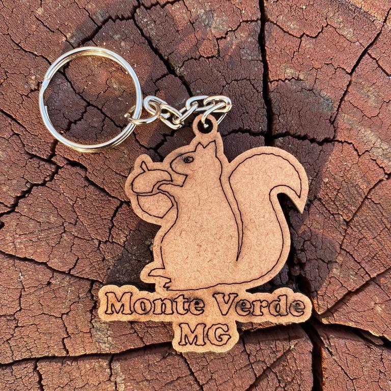 CHAVEIRO Esquilo personalizado MDF CRU