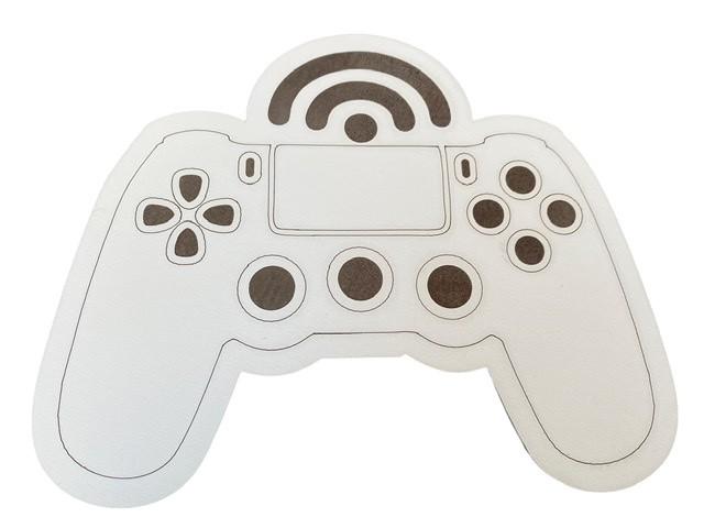 Controle de Vídeo Game - Aplique Decoração em MDF 25cm