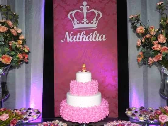 Decoração para Painel de Festa - Nome Personalizado 60cm + Coroa 40cm MDF CRU