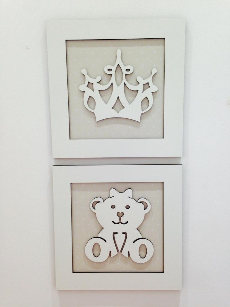 Duo de Quadros Ursa e Coroa