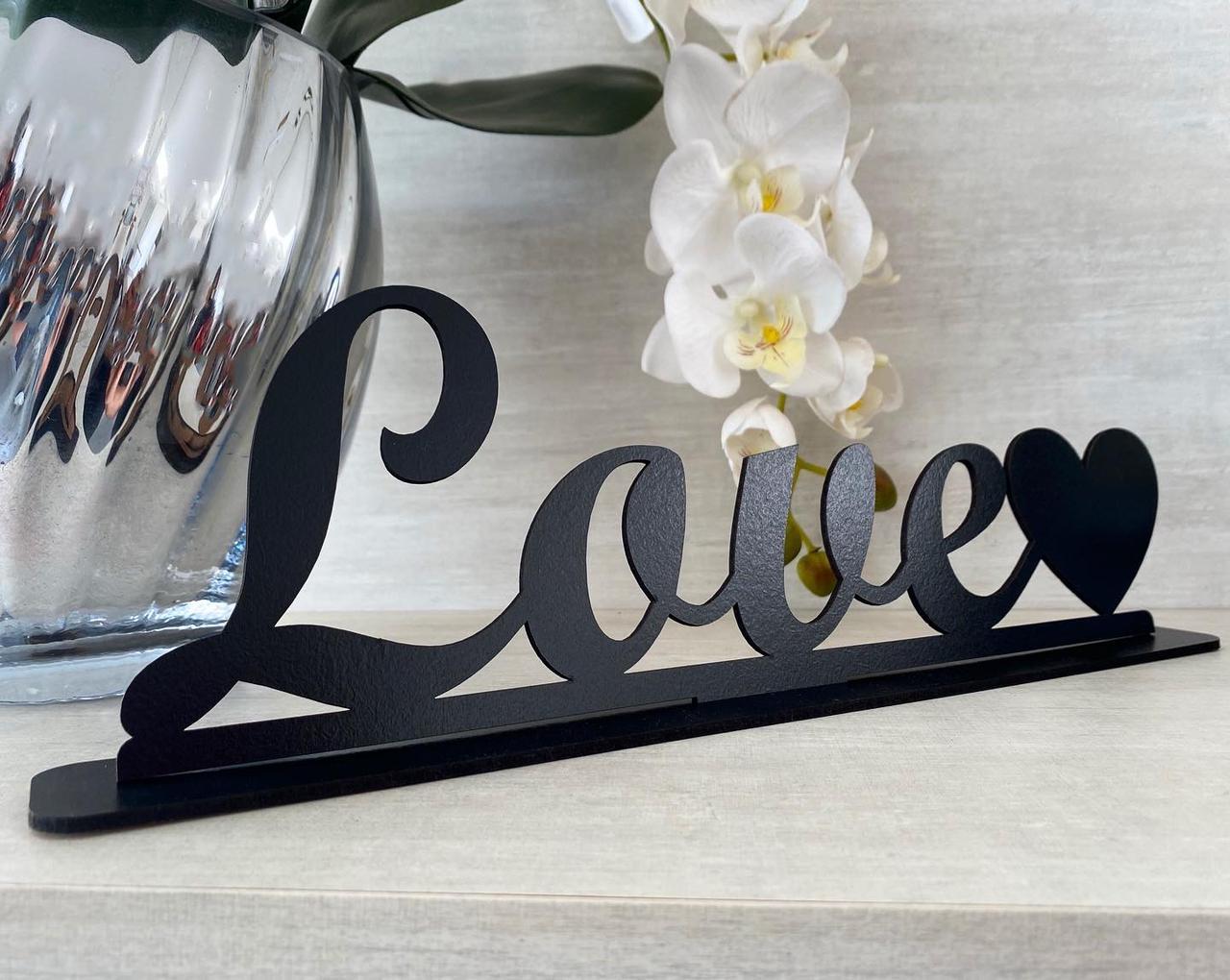 Enfeite Letreiro decorativo de mesa Love 35cm