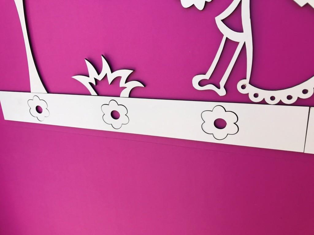 Faixa border de parede avulso Flores 2 - 60cm
