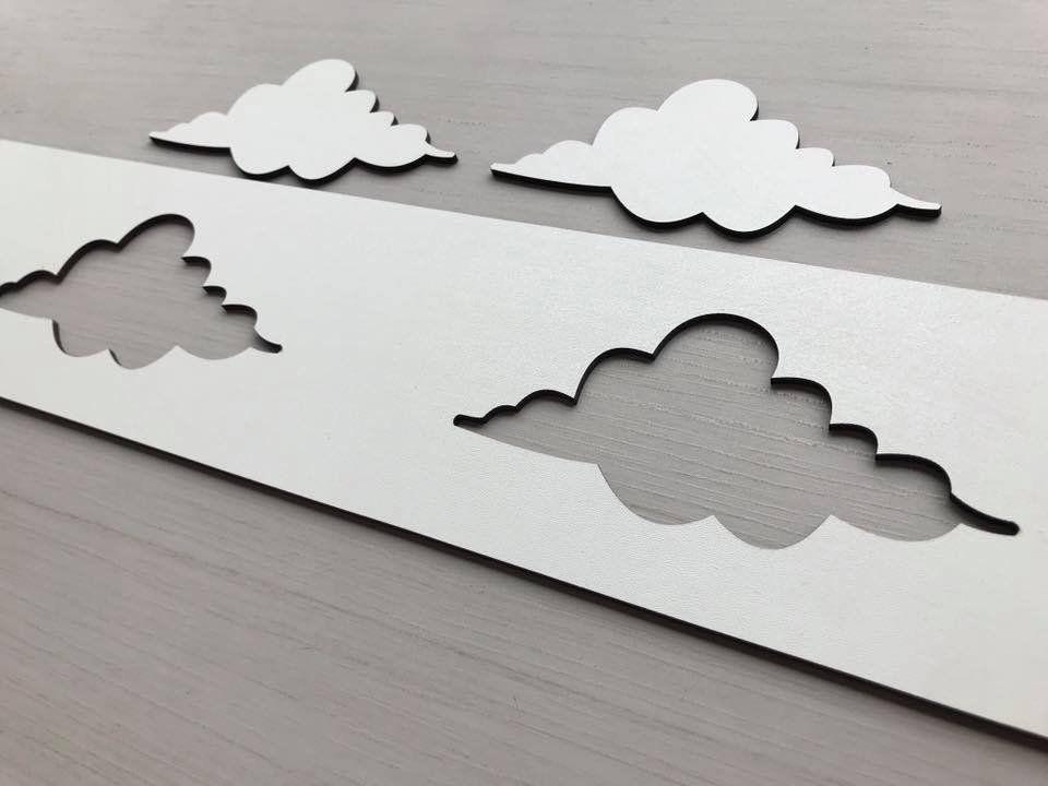 Faixa border de parede avulso nuvens 60cm