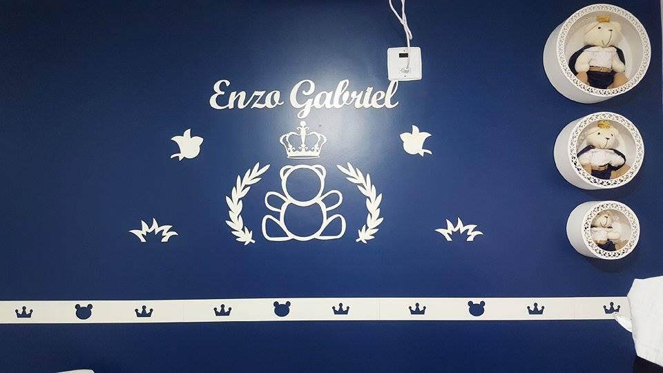 Faixa border de parede avulso Urso príncipe / Ursa princesa 60cm