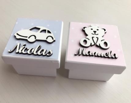 Kit 20 caixinhas personalizadas Carrinho Mdf  6cm (R$ 4,50 cada)