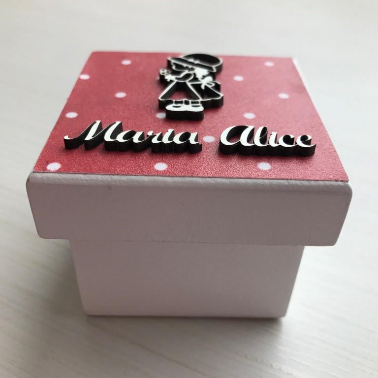 Kit 20 caixinhas personalizadas Camponesa Mdf  6cm (R$ 4,50 cada)