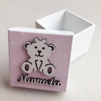 Kit 20 caixinhas personalizadas Ursinha Mdf  6cm (R$ 4,50 cada)
