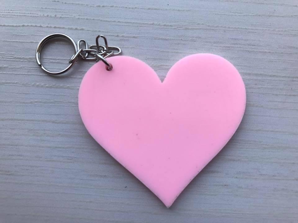Chaveiro Coração ACRÍLICO COLORIDO Personalizado