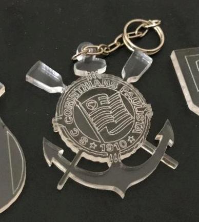 KIT 30 PEÇAS - Chaveiro Time Corinthians Personalizado ACRÍLICO CRISTAL (R$ 1,70 cada)