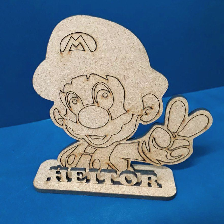 Kit Centros de Mesa 20cm Super Mario MDF CRU