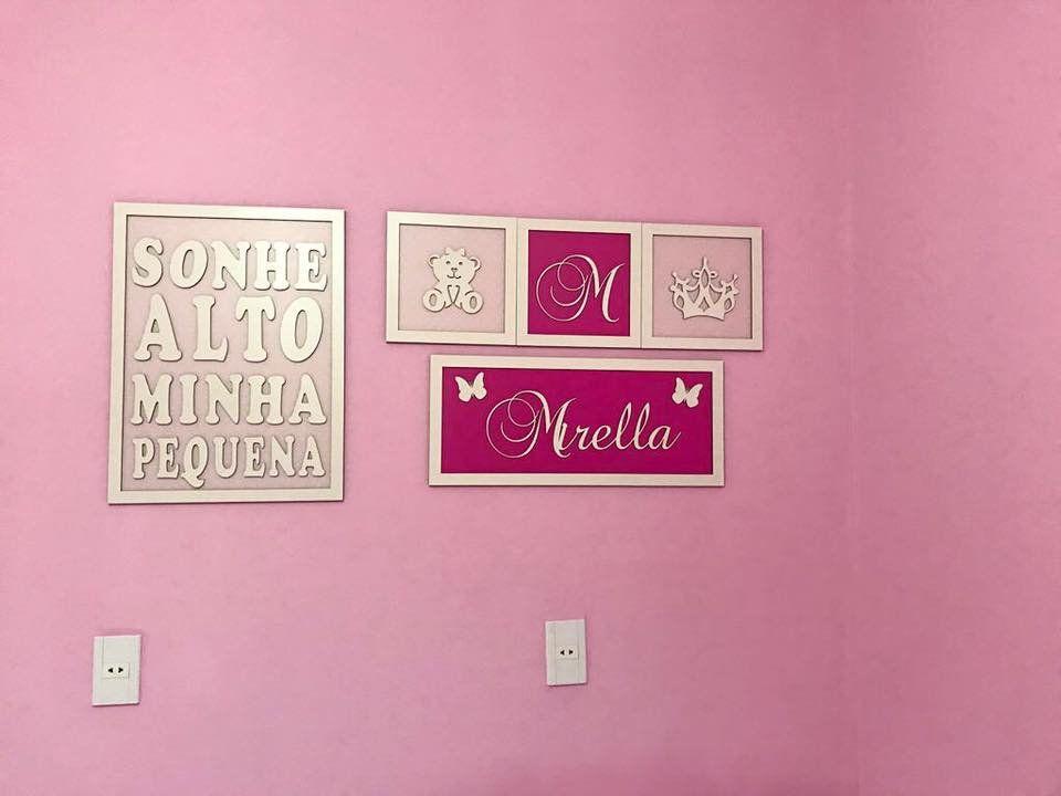 Kit de quadros decorativos Personalizados Ursa Princesa - Ref. 1001