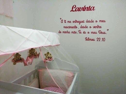 Kit Frase Salmos 22.10 Personalizada Nome do Bebê