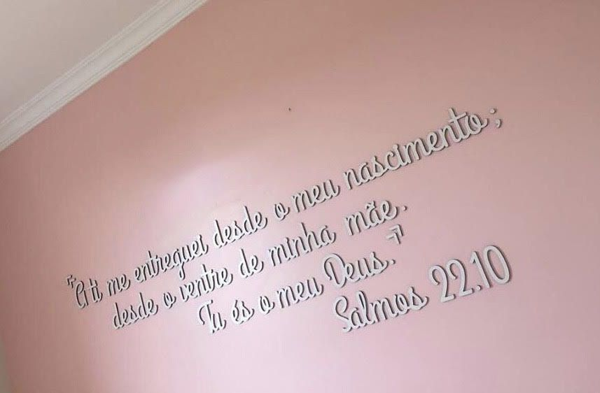 Kit Frase Salmos 22.10 MDF Decoração Pronta Entrega